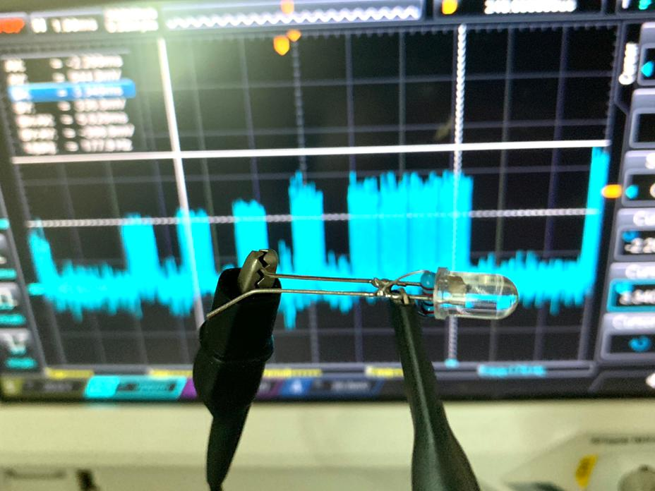 Homemade IR receiver for oscilloscope